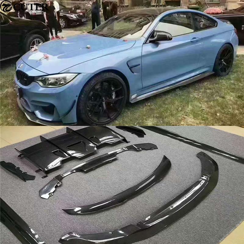 F80 M3 F82 M4 Carbon Fiber Car Body Kit Front Lip Rear