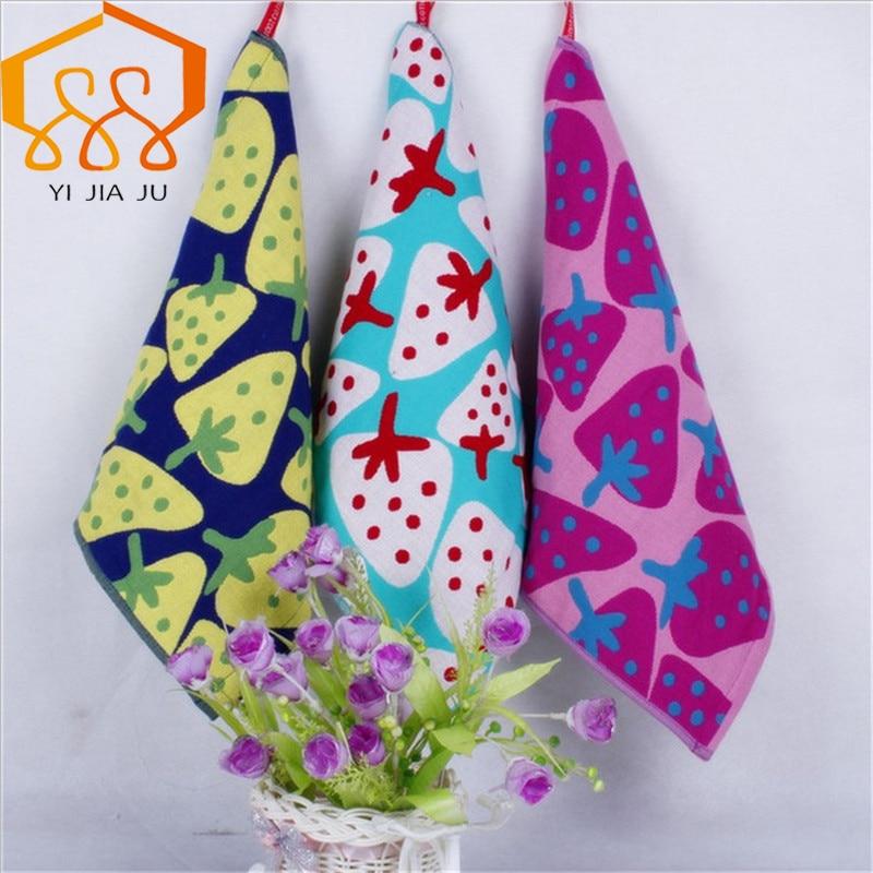 משלוח חינם 3 צבעים איכות גבוהה לילדים מגבת פנים אמבטיה סופג סמיך רך כותנה מגבת יד נסיעות מגבות חוף
