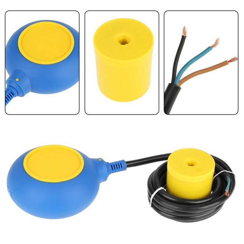 220V 16A interruptor flotante controlador de nivel de agua Sensor de contacto de nivel de agua con Cable de 2M