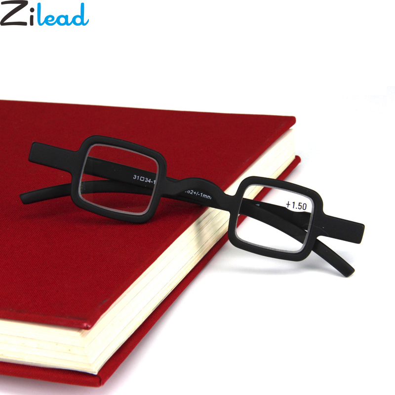Zilead Mini Small Frame Square Reading Glasses Classic Black Clear Lens Presbyopic Glasses Eyewear For Women&Men +1.5+2.0+2.5