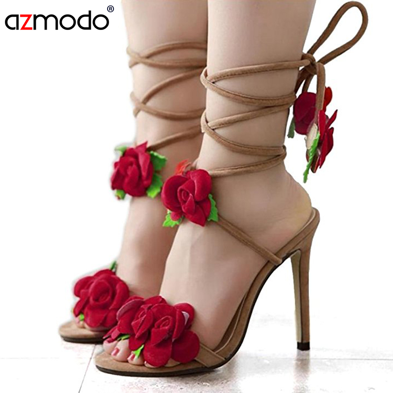 womens shoes summer ladies shoes flower women sandals wedding shoes pumps Fashion rose cross lacing high-heeled sandals flower collection colorful embellished floral print buckle women pumps gladiator 3d flower shoes elegant ladies led shoes