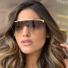 QPeClou 2019 New Oversized Shield Sunglasses Women Men Big M