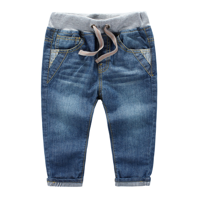 3 10years spring autumn children jeans baby boys pants high quality kids Children s volume label