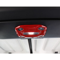 JXKaFa Car Interior Accessories For Jeep Wrangler JL 2 Door 2018+ Reading Light Lamp Frame Cover Trim Styling Bezel