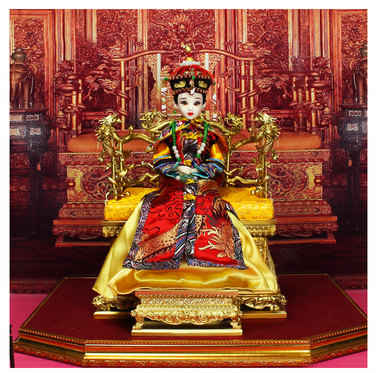 Fortune days Chinese brand doll Xiao Zhuang Empress joint body East Charm including box stand clothes shoes 35cm gift present цена и фото