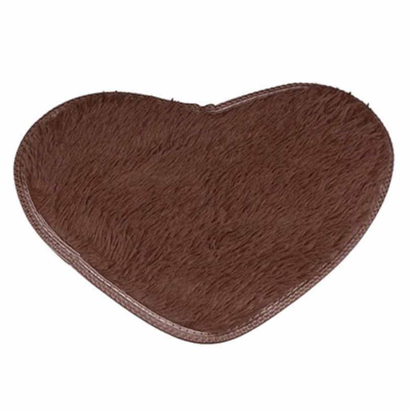 40*50cm Anti-Skid Fluffy Shaggy Area Rug Home Bedroom Bathroom Floor Door Mat carpets for living room Oct23