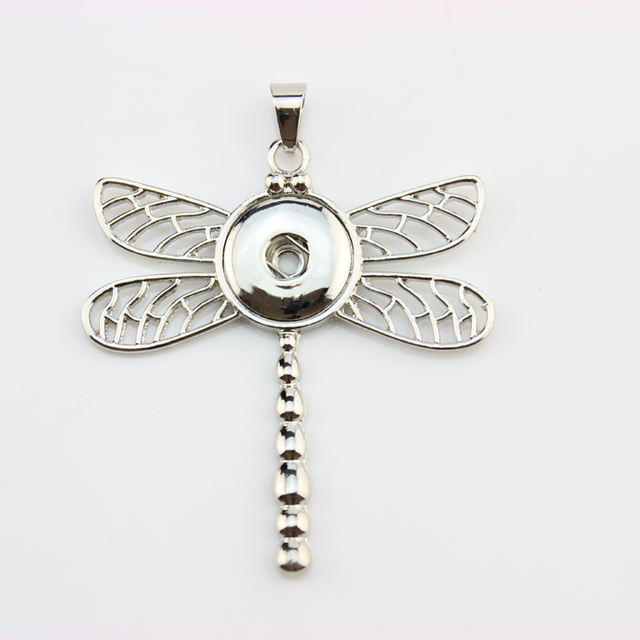 New Dragonfly Snap Button Jewelry For Women. 18mm Snap Button Pendant