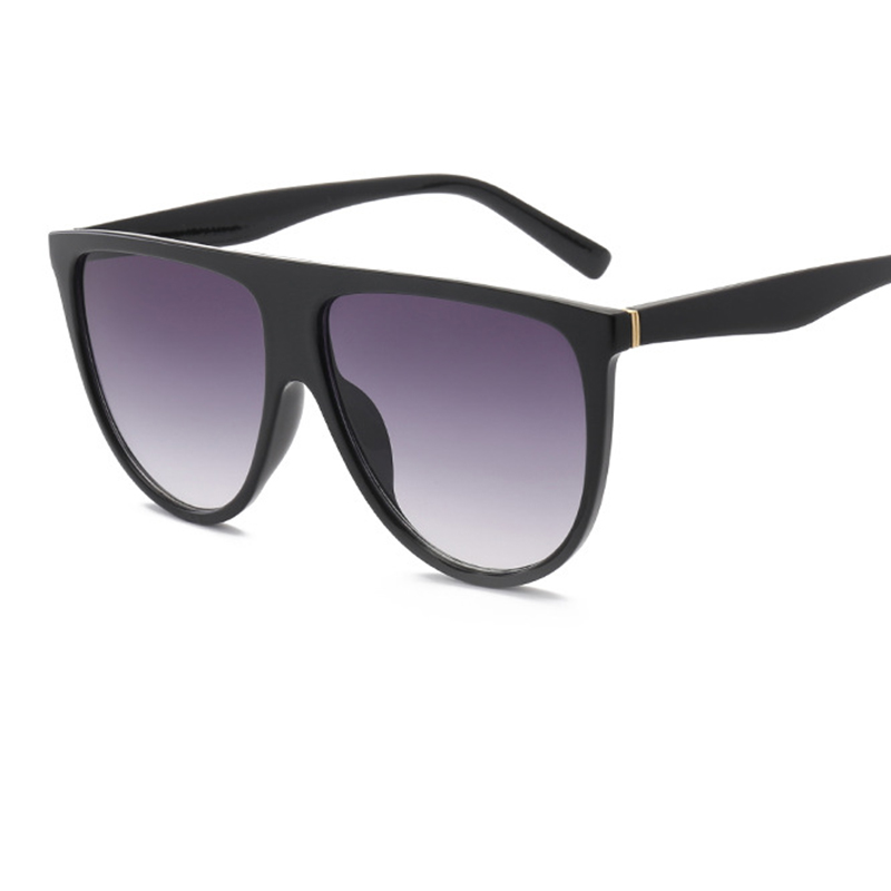 Women's Sunglasses 2018 Kim Kardashian Sunglasses Lady Flat Top Eyewear Lunette Femme Women Luxury Brand Sunglasses Women Rivet Sun Glasse Uv400