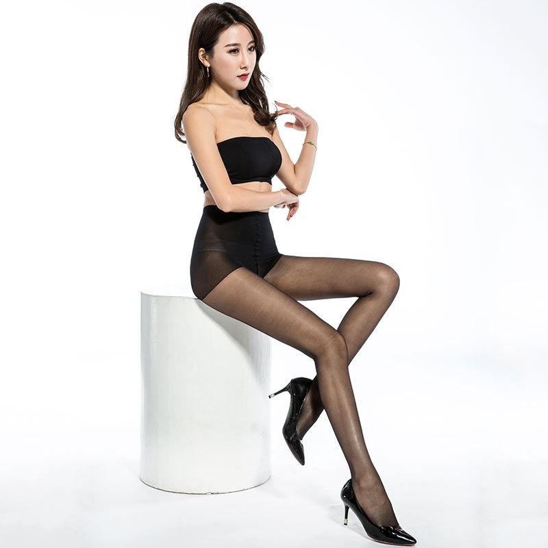 High quality summer super thin sexy lady velvet anti - hook silk free cut silk stockings(China)