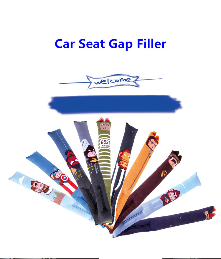 Cartoon Seat Gap Filler, Short Plush PP Cotton Car Interior Styling