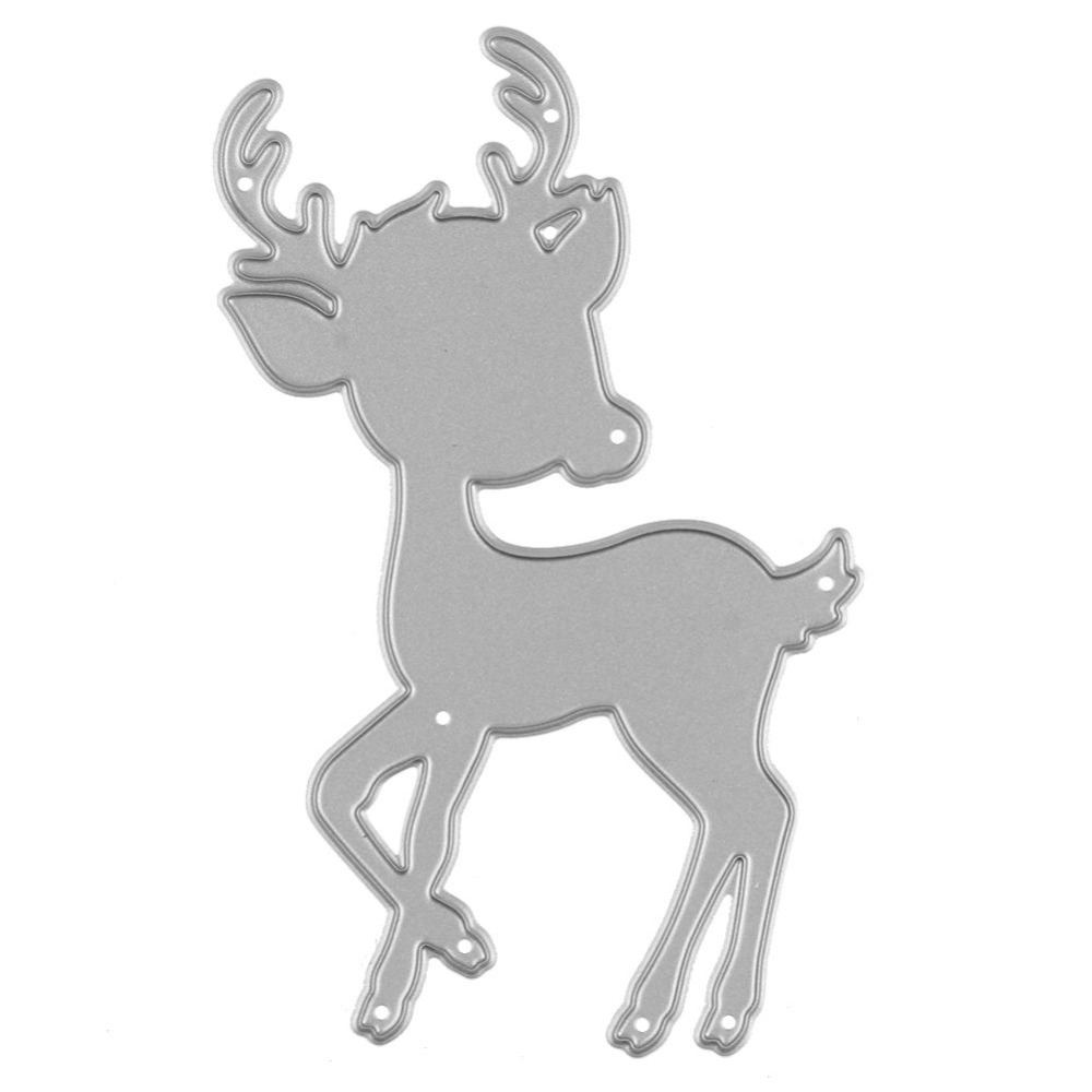 cute cartoon deer embossing cutting dies stencils metal. Black Bedroom Furniture Sets. Home Design Ideas