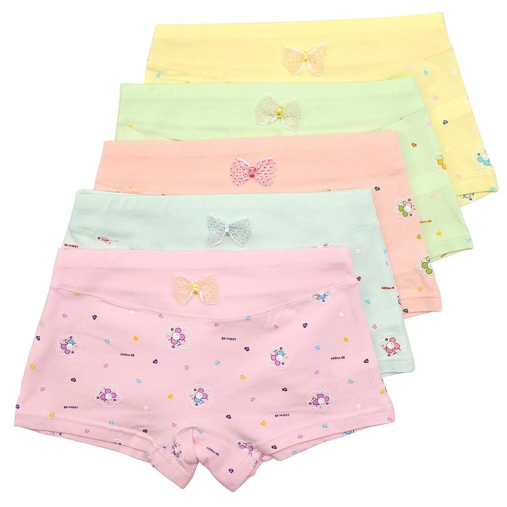 ce1147efddb8 5 Pack Girls Boxer Brief Underwear Toddler Little Hipster Boyshort Kids Briefs  Cotton Panties Set for Girls Kids Size 2-12 Years