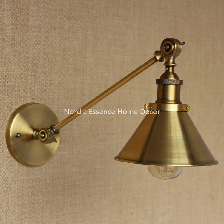 LOFT Nordic American country style popular in Europe and America creative mall chain stores,cafes deck bronzed iron wall sconce the original single in europe and america 2015