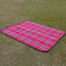 Camping Mat with Plaid Pattern