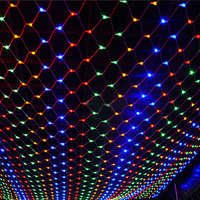 3 2m 200Leds EU Plug Wedding Party Decoration Led Net String Lights Multi Color 8 Displays
