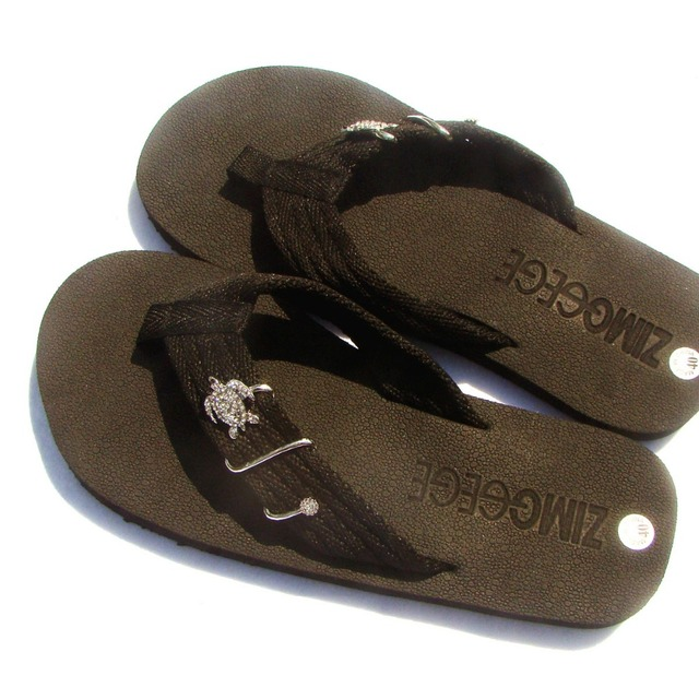 3aaac60053c Summer beach Flip Flops slippers shoes decoration Sea fish Sea turtle  Starfish Sand dollar seastar ornament