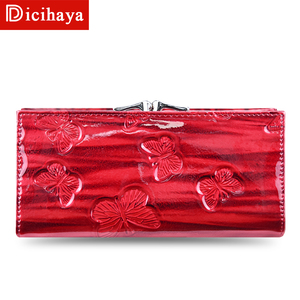Image 3 - DICIHAYA Womens Wallets Women Leather Wallet Butterfly Design Ladies Clutch Patent Leather Purses Long Card Holder NEW 2019