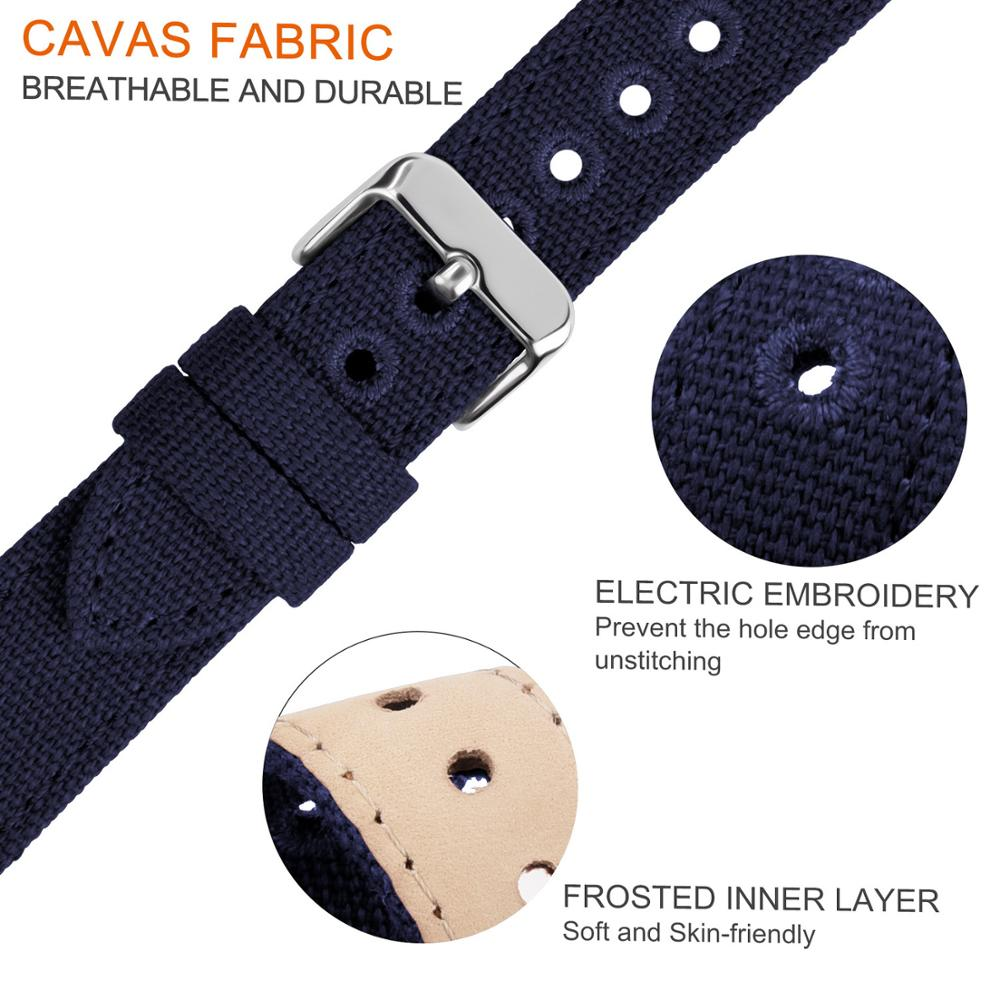 9 Colors for Quick Release Canvas Watch Band Fullmosa NATO style Watch Strap 18mm 20mm 22mm 24mm Replacement Watch Straps in Watchbands from Watches