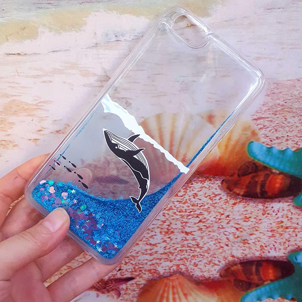 Acqua allo stato liquido Caso Della Copertura Molle Del Silicone per Huawei Honor V8 V9 Gioco V10 V20 Nota 10 8 6C Pro Balena pesce Unicorno Mickey Telefono Custodie