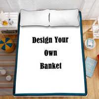 Projete seu próprio cobertor, cobertura personalizada da foto, cobertores feitos sob encomenda, cobertores extra grandes do luxuoso, 7 tamanhos, cores vibrantes, macio