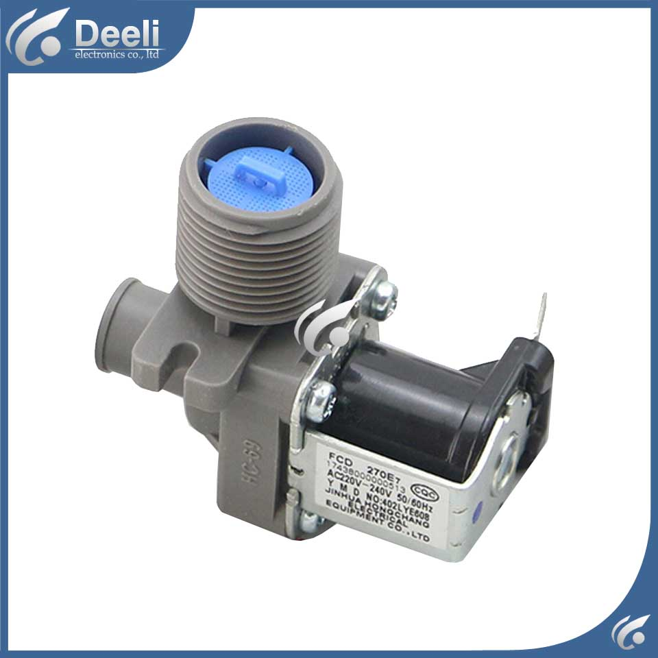 1pcs for Universal washing machine water inlet valve solenoid valve FCD270A good working 220v fcd270a quality washing machine parts single solenoid valve 38mm