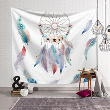Dream Catcher Print Large Tapestry Wall Hanging Hippie Bohemian Carpet Throw Yoga Mat Beach Towel for Home Bedroom Decoration