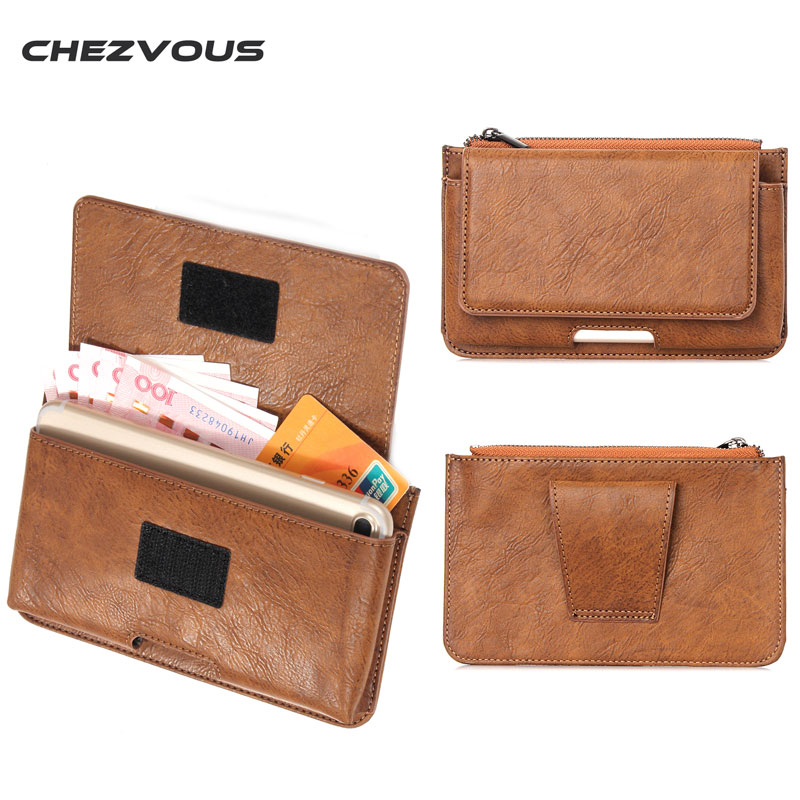 5.5 Inch Leather Phone Pouch for Iphone6 6s 7 Plus Phone Case Belt Clip Bag 5.5 Wallet O ...