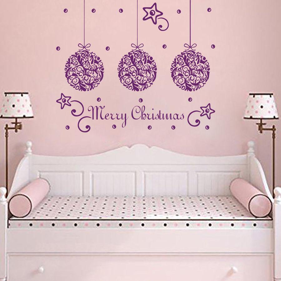 Beautiful Merry Christmas Decor Wall Sticker Kids Children Bedroom Art  Decorative Wall Mural Christmas Vinyl Wallpaper Part 58
