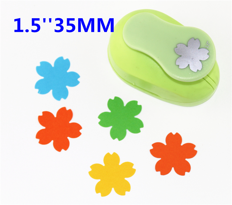 free ship flower 1.5'' (35mm) scrapbook paper cutter scrapbooking punches hole punch child craft punch Embosser kid toy S2936-8 free shipping butterfly 2 craft punch paper cutter scrapbook child craft tool hole punches embossing device kid s2935 3