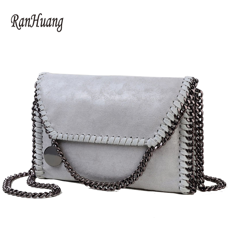 ФОТО RanHuang Women Messenger Bags Women Fashion Chains Shoulder Bags Women's PU Leather Handbags Small Shoulder Bags bolsas feminina
