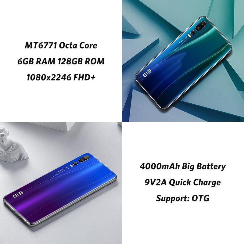 Elephone A5 6 GB 128 GB SmartPhone Android 8.1 MTK6771 Octa Core 6.18 pouces FHD + u-cran écran 20MP caméra 4000 mah 4G téléphone portable - 5
