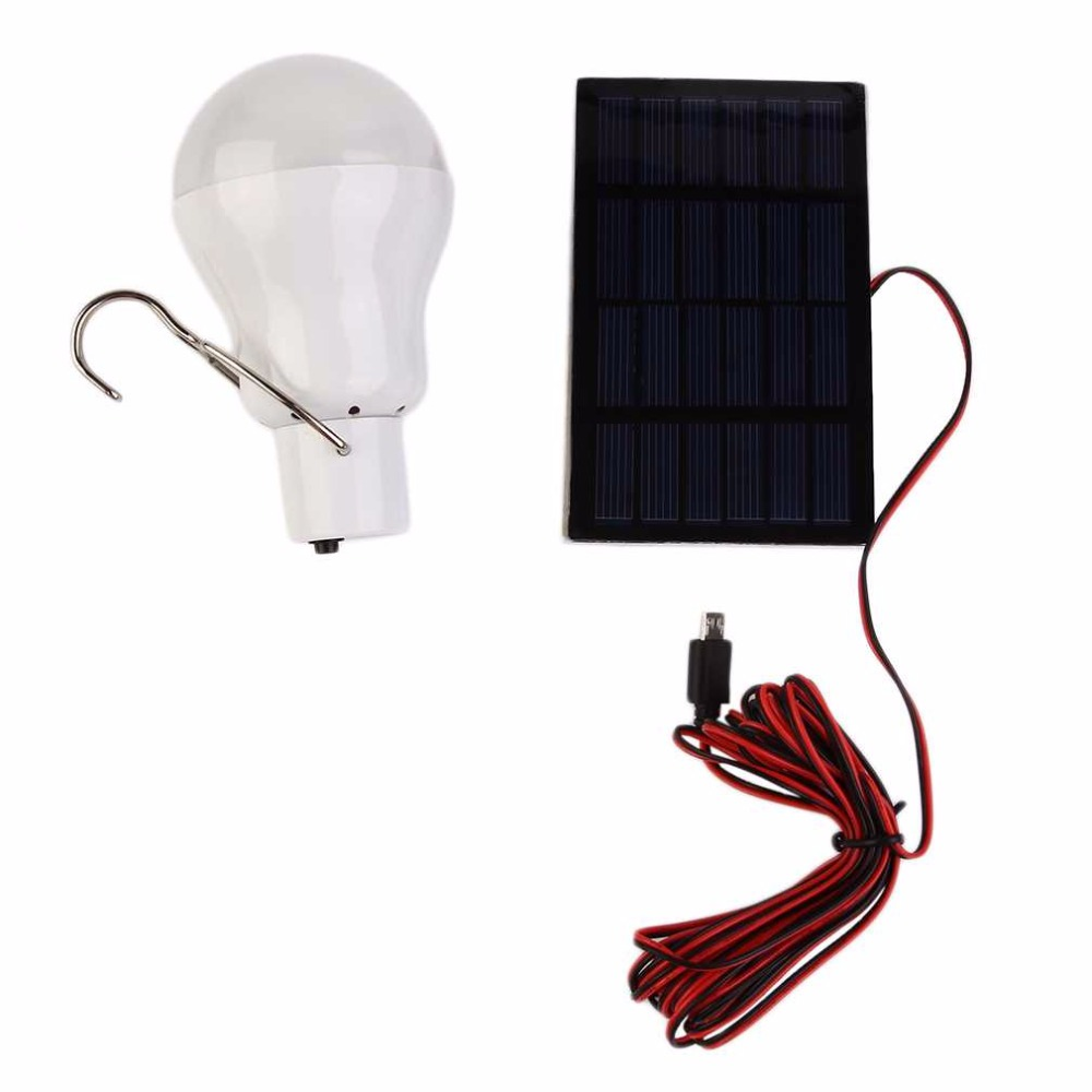 15W 130LM Portable Solar Power LED Bulb Solar Powered Light Charged Solar Energy Lamp Outdoor Lighting