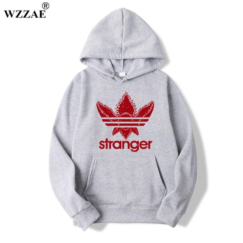 2018 Brand New Fashion Stranger Things Cap Clothing Hooded Sweatshirt Hoodies Men/Women Hip Hop Hoodies Plus Size Streetwear