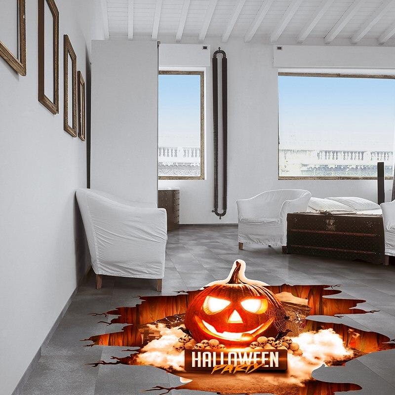 Pumpkin Spooky Scarey Halloween Bedroom Decal Wall Art Sticker Picture