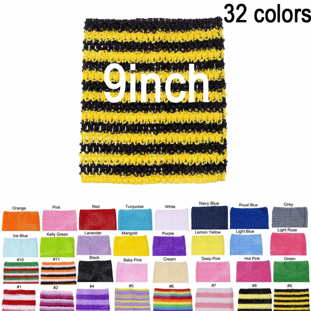 Baby Girl 9Inch Crochet Tutu Tube Tops Chest Wrap Wide Crochet Tops For DIY Tutu Dress Supplier