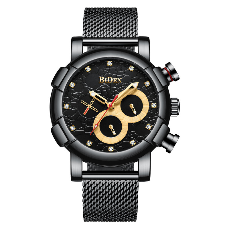 все цены на BIDEN Chronograph Men Watch Top Brand Luxury Military Sport Male Clock Stainless Steel Mens Watches Business Quartz Clocks 0086