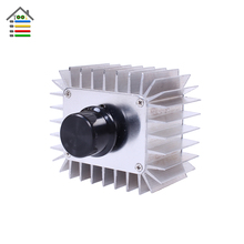 High Power Electronic Voltage Regulator 5000W AC 220V Regulator SCR Dimming Thermostat Aluminum Alloy Cooling