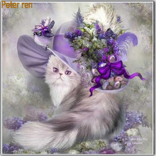 Diy Diamond embroidery painting New Crafts Needlework mosaic Paste The beautiful princess cat