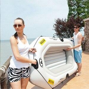 Image 5 - AQUA MARINA HAREKET Yeni şişme bot Spor Kayık PVC tekne Kürek Kauçuk şişme bot Çift Kişilik Kano Kürek Ile