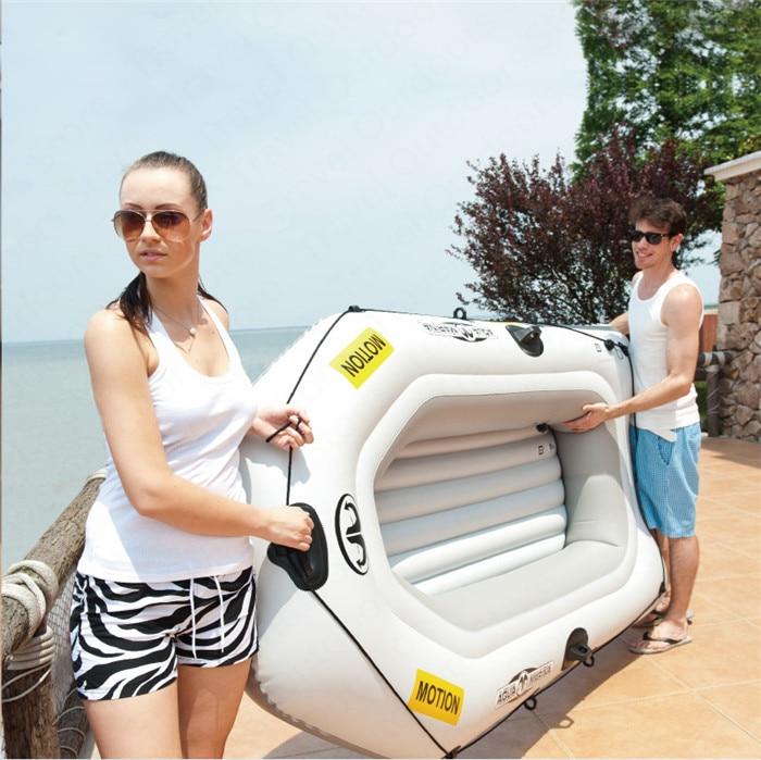 AQUA MARINA MOTION nouveau bateau gonflable sport Kayak PVC bateau pagaie en caoutchouc bateaux gonflables Double personnes canoë avec pagaie - 5