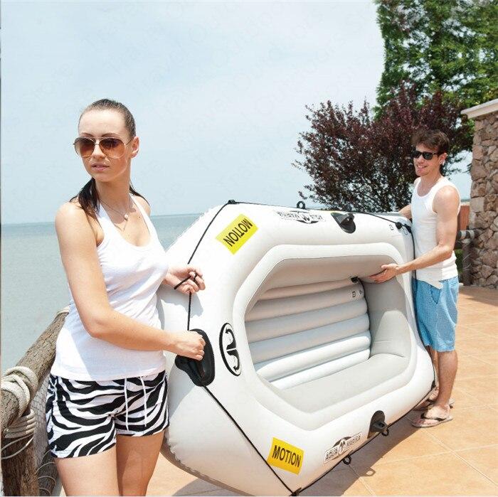 Barco hinchable AQUA MARINA MOTION, barco deportivo, Kayak de PVC, remo de barco, botes inflables de goma para dos personas, canoa con paleta - 5