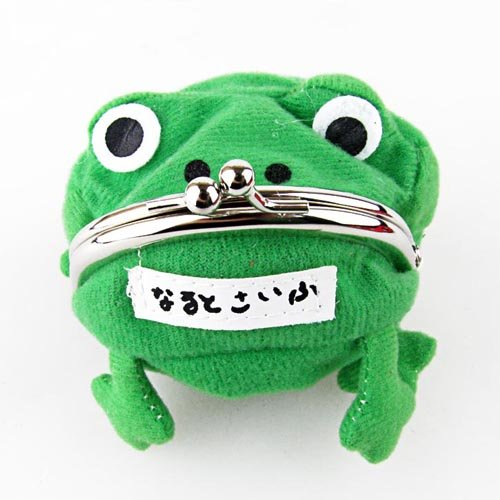 HOT Anime Naruto: Cute Green Frog Coin Bag Cosplay Props Plush Toy Purse Wallet Funny Gift super mario bros plush green shell backpack bag purse cosplay super funny and cool rare