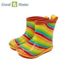 2016 New Design Kids Cartoon Rainboots Brand Girls Antiskid Wellies with Cotton Velvet Boys Autumn Winter Warm Rain Boots
