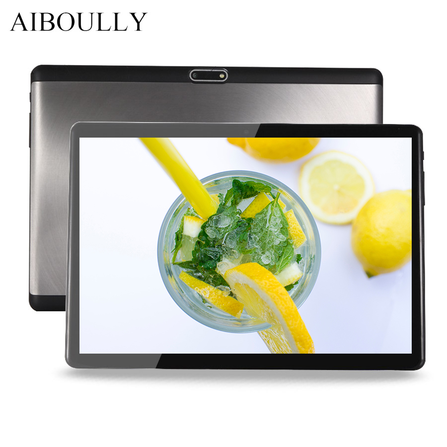 цена на AIBOULLY 2018 Android 7 Tablet PC 10.1 inch Octa Core 4GB RAM 2.5D Screen 1920*1200 Phone Call Tablets API Level 24 Phablet 9.7'