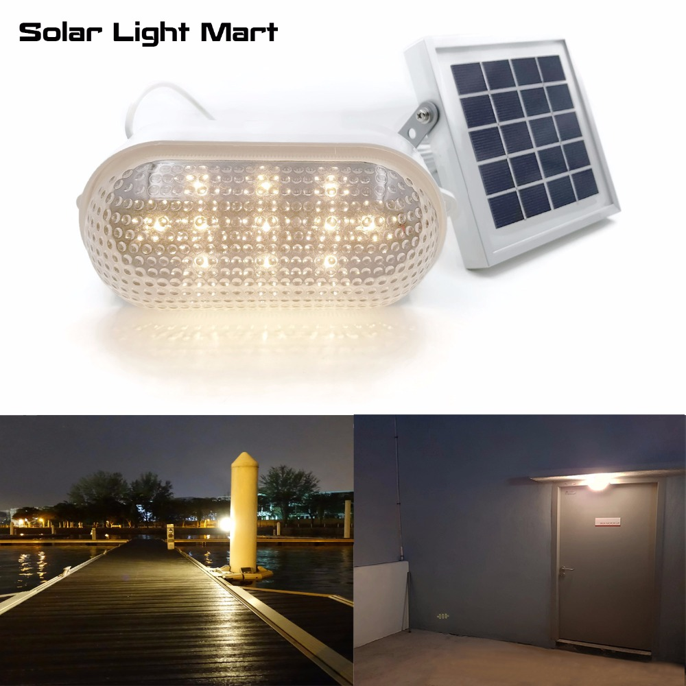 RIZE 120X Solar Outdoor Indoor Light Waterproof Auto 3 Power Modes Solar Powered LED Shed Light