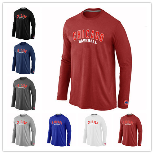 e4135b655 ... purchase factory wholesale chicago cubs t shirt long sleeve baseball  tees shirts practice chicago cubs cotton