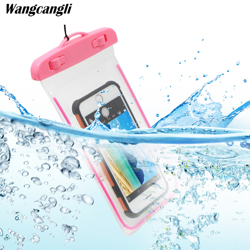 For iphone xs case for xiaomi Mobile phone fluorescent waterproof pouch Universal cases Bag