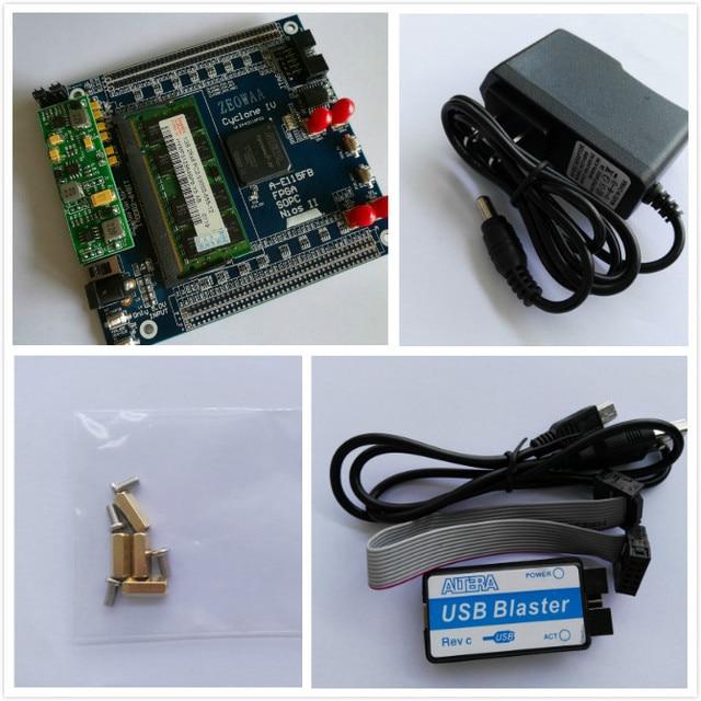 Циклон IV ep4ce115 DDR2 64bit + USB бластер + Altera FPGA Совет по развитию Altera доска eda доска ASIC