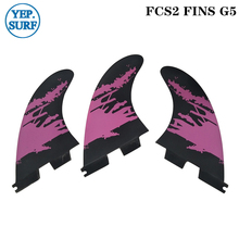 2019 Hot style new Fins Surf FCS2 G5 Fin Surfboard Black and Purple color surfing fin Quilhas thruster