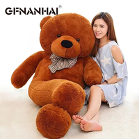 1pc 200cm huge size kawaii Teddy bear skin plush toy Hull Super Quality Plush Soft Coat Factory price For Girls Christmas Gift